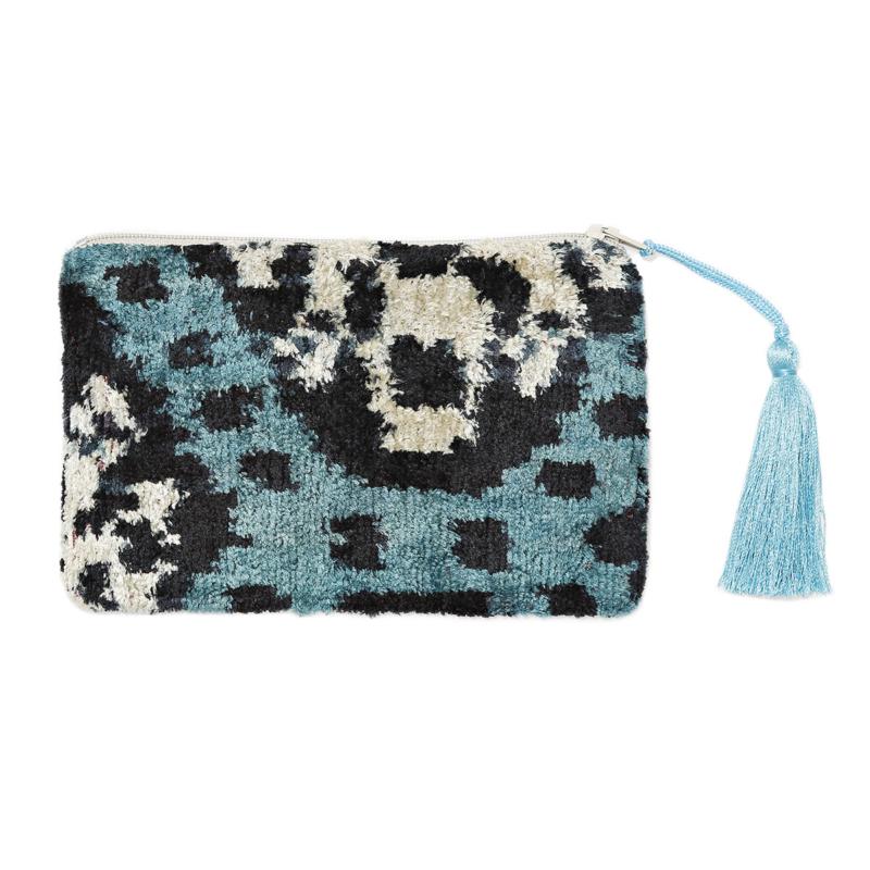 Ikat textil pénztárca